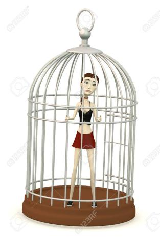 Image result for girl in a cage