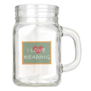 Image result for reading mason jar